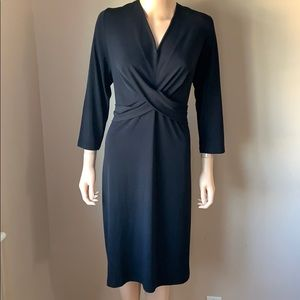 NEW - Black V-Neck Dress